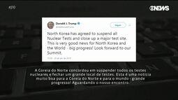 Mundo celebra com cautela anúncio da Coreia do Norte de suspensão de testes nucleares
