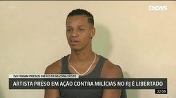 Artista preso em ação contra milícias no Rio é libertado
