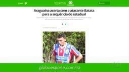 Araguaína acerta com o atacante Batata para a sequência do Campeonato Tocantinense