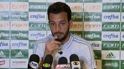 Veja como foi a entrevista coletiva de Edu Dracena, zagueiro do Palmeiras, em Buenos Aires