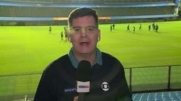 Renato Peters fala sobre o treino do Palmeiras na Argentina; torcida protesta outra vez