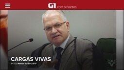 G1 em 1 Minuto: Fachin derruba lei que proibia operação de cargas vivas no Porto de Santos