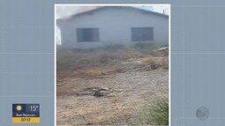 Fogo atinge casa e provoca rachaduras no imóvel em Varginha, MG