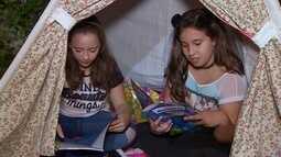 Condomínio realiza acampamento com leitura e muita diversão