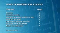 Sine oferece vagas de emprego em Maceió e Arapiraca