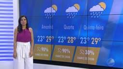 Salvador tem chance de 90% de chuva nesta terça-feira (22); confira a previsão