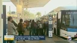 Ônibus operam em horário especial em Ribeirão Preto e em Franca