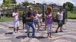 Parte 2: Hudson Praia ensina coreografia da música da cantora Joelma para Jaque Santtos