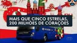 Goiano cria frase que estampa o ônibus da Seleção na Rússia