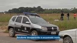 Polícia encontra corpo de estudante desaparecido em Sinop