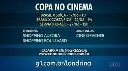 Globo faz transmissão dos jogos do Brasil para o cinema