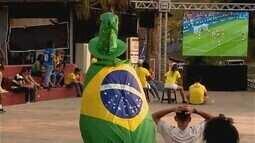 Torcida entra no clima de Copa do Mundo com estreia do Brasil diante da Suíça
