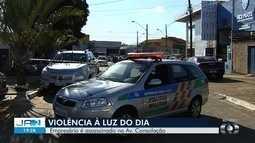 Empresário é morto a tiros em frente a loja de veículos em Goiânia, diz PM