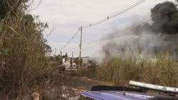 Depósito de materiais de recicláveis pega fogo em Conchal