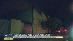 Fábrica de calçados pega fogo na Vila Albertina em Ribeirão Preto, SP