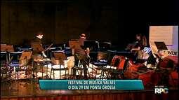 Festival de Música vai até o dia 29 de agosto em Ponta Grossa