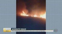 Homem morre em acidente entre carro e moto entre Guaíra e Barretos