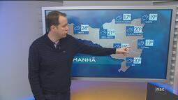 Veja como ficará o tempo em todas as regiões de SC nesta quinta-feira (16)