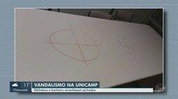 Biblioteca do IEL da Unicamp é alvo de vandalismo em Campinas