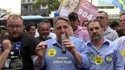 Anthony Garotinho (PRP) faz campanha em Campo Grande, no RJ