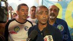 Romário (PODE) visita a Ceasa em Irajá, no RJ