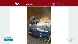 Corpo é encontrado em carro dentro do rio Araçatiba, em Viana, ES