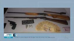 Homem é preso após postar fotos de armas de fogo em rede social