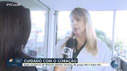 Cuidados com o coração: mutirão oferece serviços de saúde gratuitos em Nazaré