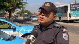 Policiamento no distrito de Tamoios é reforçado após ônibus ser incendiado em Cabo Frio