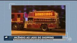 Incêndio assusta população próximo a shopping em Teresina