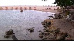 O perigos escondidos na linda praia de Barra de Gramame, Litoral Sul da Paraíba.