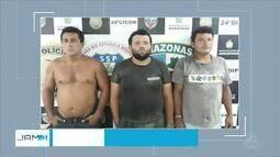 Trio é preso suspeito de matar vigilante no Centro de Manaus