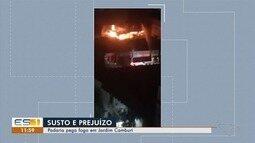 Padaria pega fogo no bairro Jardim Camburi, em Vitória