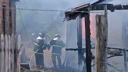 Bombeiros registram diversos incêndios a residências em Corumbá