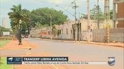 Trecho da Avenida Jerônimo Gonçalves é liberado pela Transerp