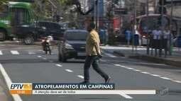 Campinas registra 25 acidentes fatais envolvendo pedestres de janeiro a agosto