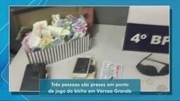 Três pessoas são presas em ponto de jogo do bicho em Várzea Grande