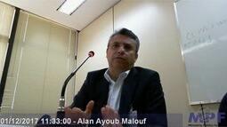 Vídeo de delação de Alan Malouf revela esquemas fraudulentos no governo