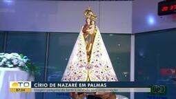 Imagem da Nossa Senhora de Nazaré chega a Palmas para início de celebrações do Círio