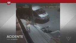 G1 em 1 Minuto: Modelo é arremessada para fora de van durante acidente em Guarujá