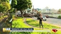 Desvio é feito em Itaparica para realização de obra da Cesan, em Vila Velha