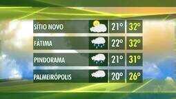Confira a previsão do tempo nas principais regiões produtoras do Tocantins
