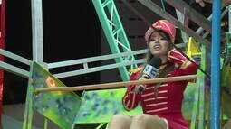 Jamile Pavlova faz um passeio no parque de diversões da Heatmus