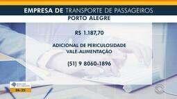 Empregos: empresa de transporte de passageiros tem vagas abertas