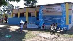 Escola no Pantanal é reinaugurada antes mesmo de ficar pronta