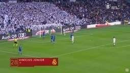 Vinícius Júnior marca na goleada do Real Madrid pela Copa do Rei da Espanha