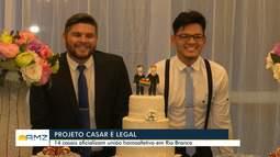 Em Rio Branco, 14 casais homoafetivos oficializam união em casamento coletivo