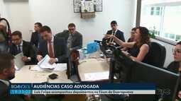 Luís Felipe acompanhou depoimentos no Fórum de Guarapuava