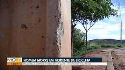 Homem morre e mulher fica ferida em acidente com bicicleta em Valadares