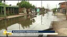 Comunidade de Icoaraci reclama de rua que vive alagamento permanente